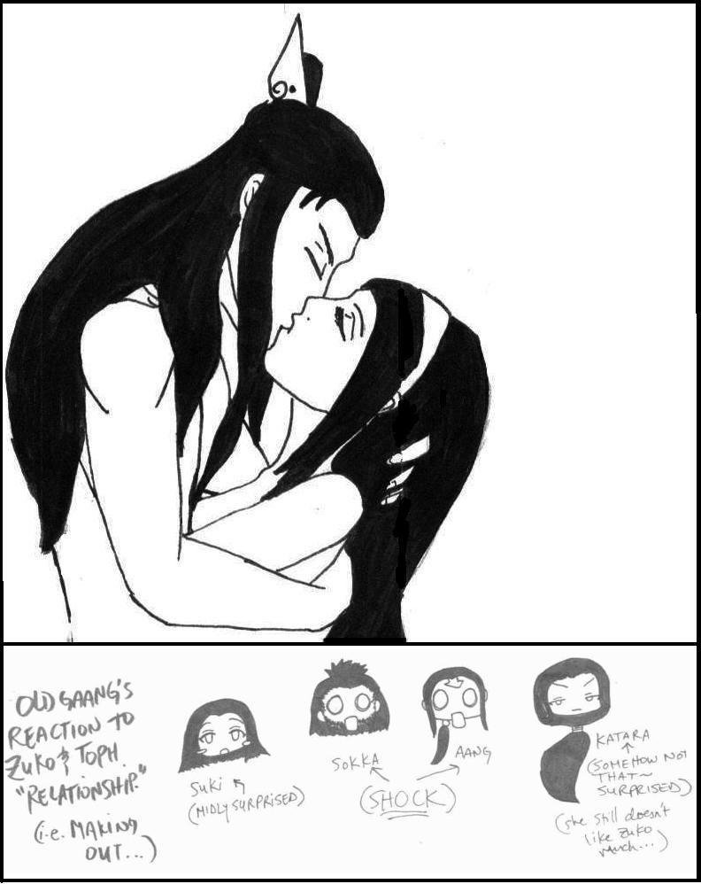 Zuko Kissing Toph Shock Toph And Zuko Kiss by