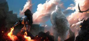 Giant Vs Pyromancer