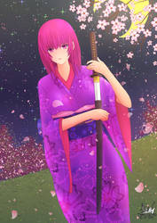 Japanese Girl Original character by Kusumaart217 R by KusumaArt217
