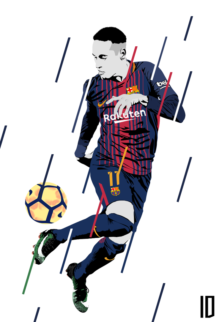 Neymar Vector Wallpaper By Individualdesign On Deviantart