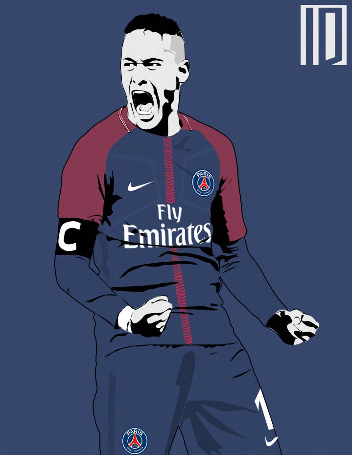 neymar psg wallpaper by individualdesign on deviantart