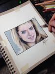 Anna Kendrick portrait drawing