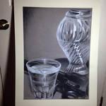 Charcoal drawing still life.