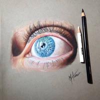 Color pencil eye drawing by MacHammac