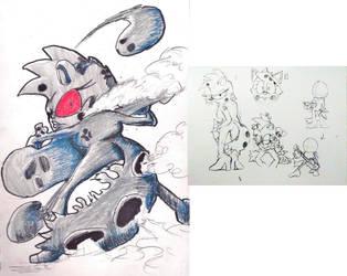 IDW Zombot Based character Metallia by shadowmanwily
