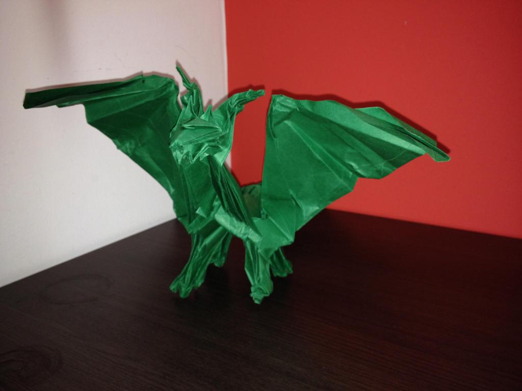 Origami dragon #dragon #origami by rversage