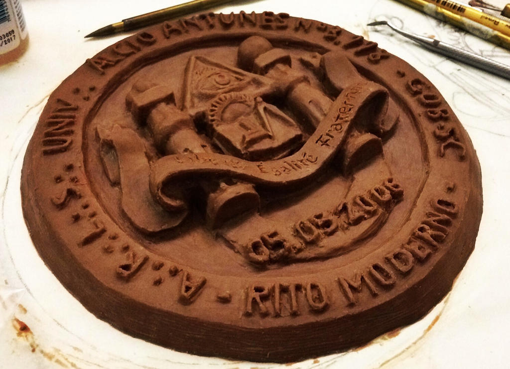 Masonic lodge emblem - oil clay by rversage