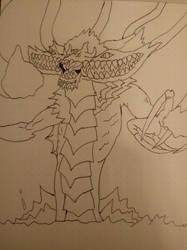 Quick Dark Gaia sketch by OrichalcosSorcerer