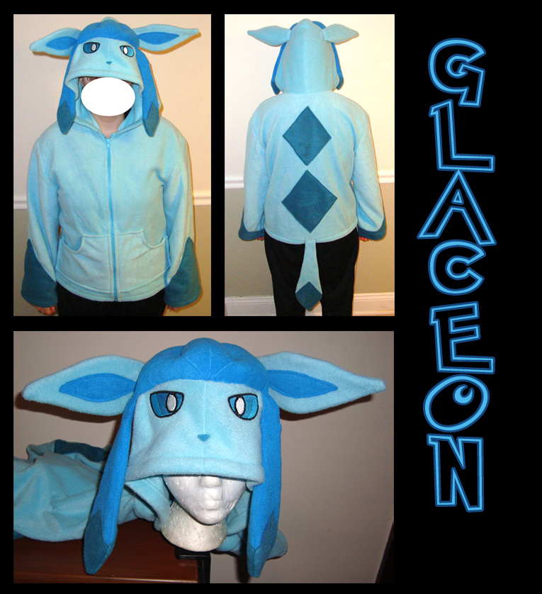 Glaceon Pokemon hoodie cosplay by Bahzi