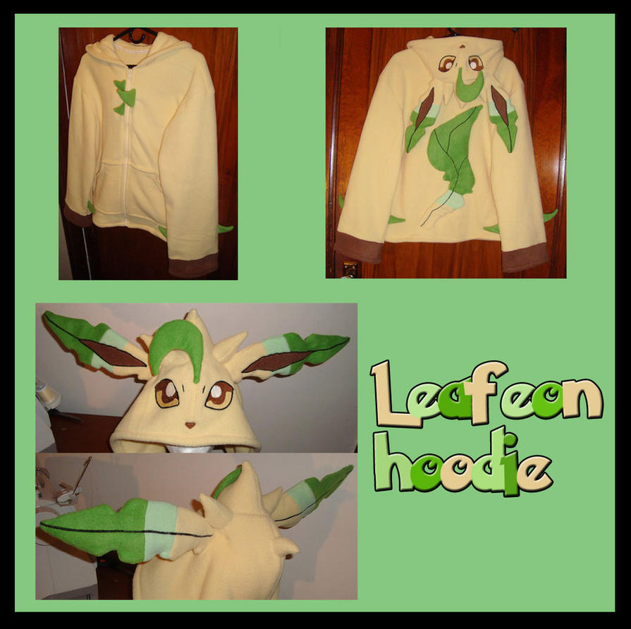 Leafeon Pokemon hoodie cosplay by Bahzi