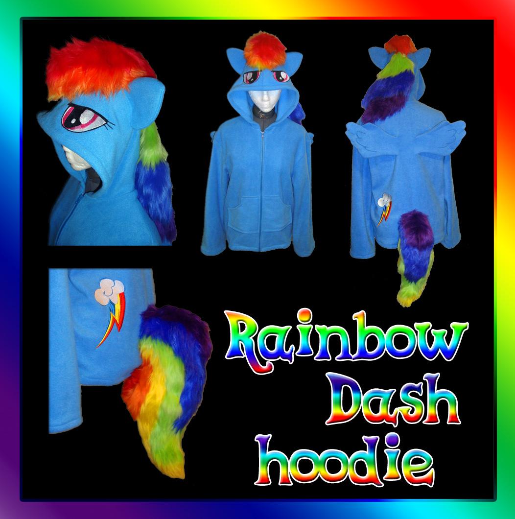 My Little Pony Rainbow Dash hoodie by Bahzi