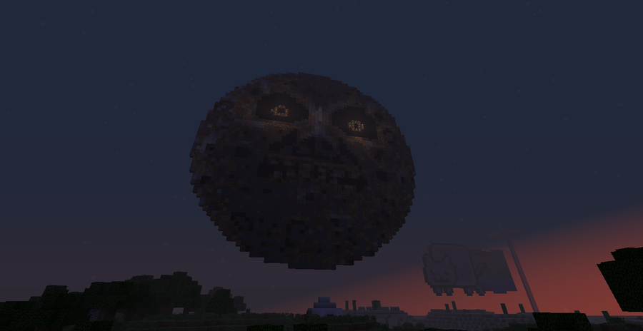 how to get to the moon in minecraft