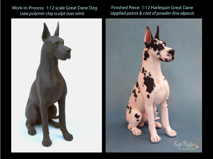 Before / After Harli Dane sculpture by Pajutee