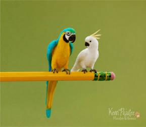 Miniature Parrot sculpts