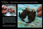 WIP Miniature Sea Otter sculptures...