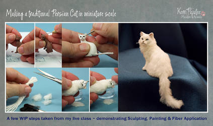 WIP Miniature Persian Cat by Pajutee