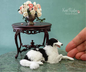 Miniature scale Borzoi sculpture... by Pajutee