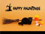 Miniature Black Cat Sculpture