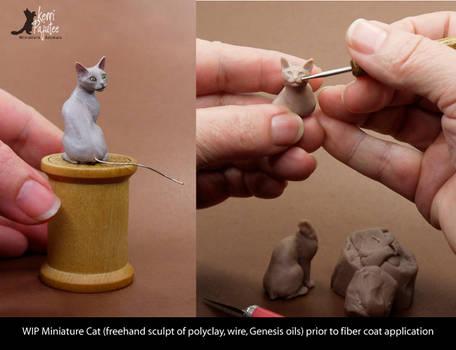 WIP Miniature Cat Sculpture - no fur