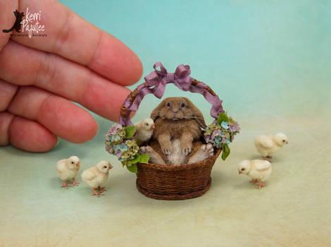 Miniature French Lop sculpture