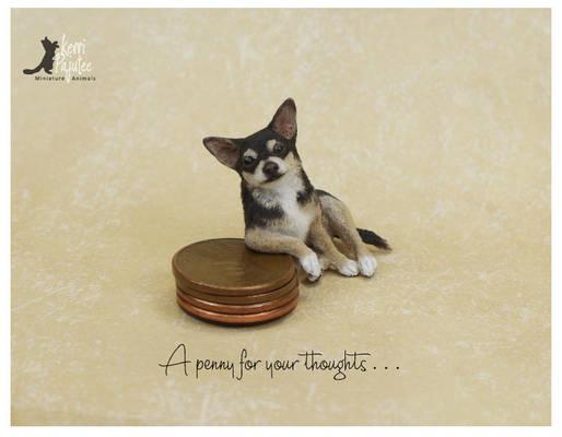 Miniature Chihuahua sculpture