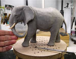 Miniature 1:12 Elephant sculpture