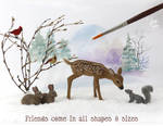 Dollhouse Miniature Woodland Animal sculptures