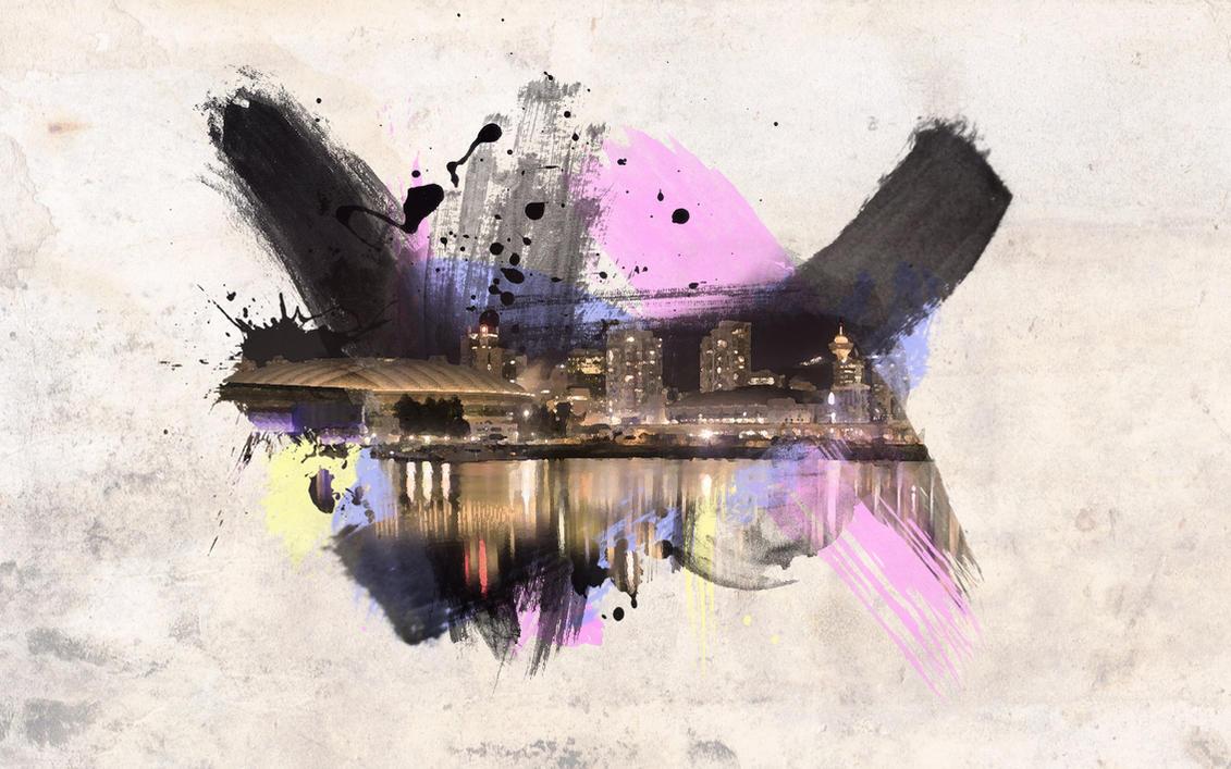 Watercolor Cityscape Wallpaper By Xero11213