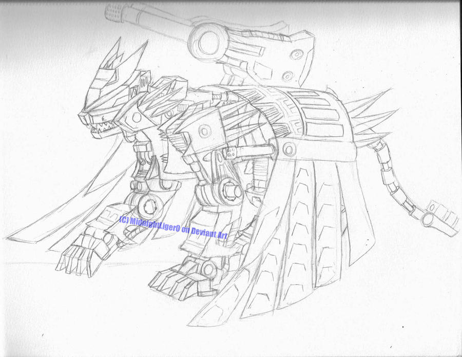 Liger Zero Phoenix Sketch by MidnightLiger0