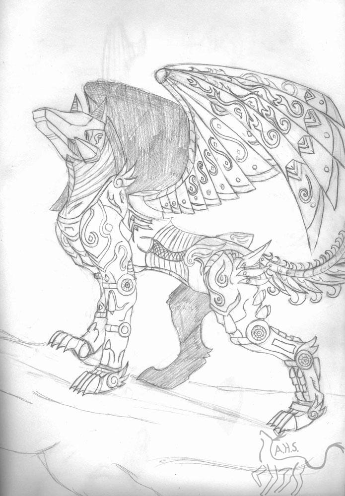 Metchi- Fallen Star the Sky Guardian (Sketch) by MidnightLiger0