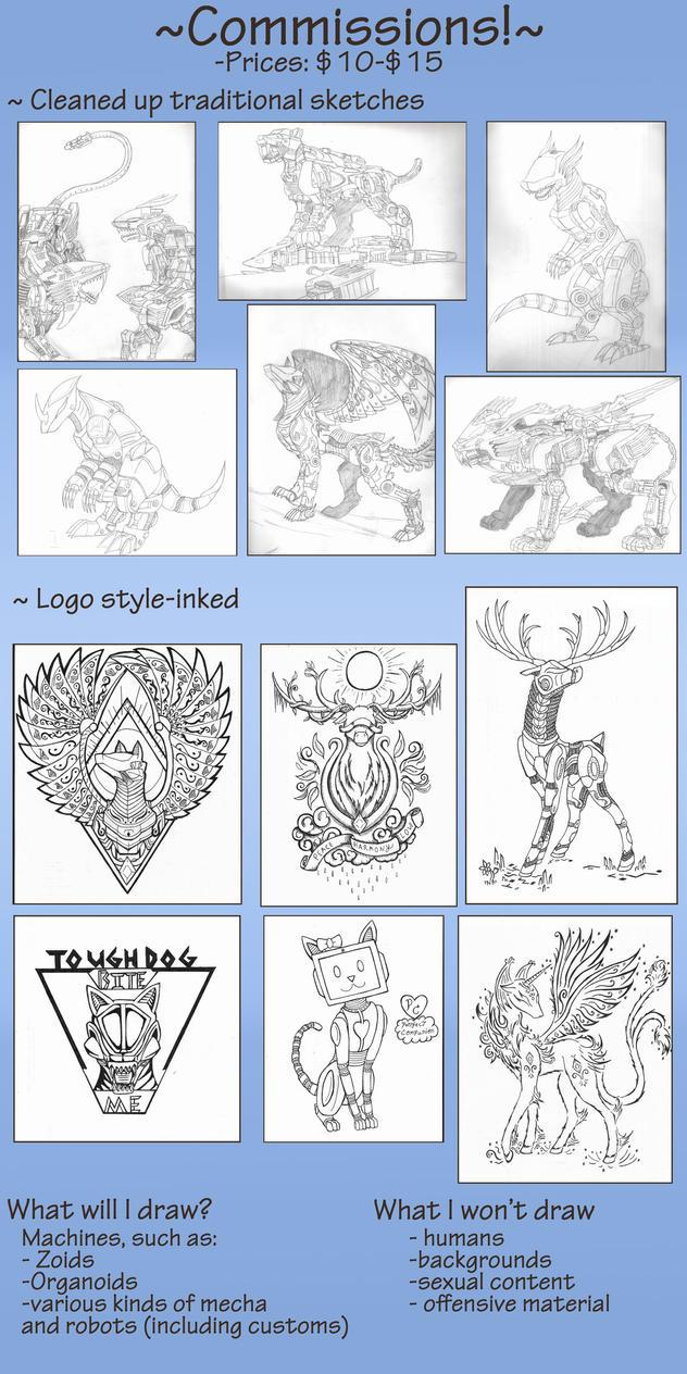 Auklara's Commissions! by MidnightLiger0