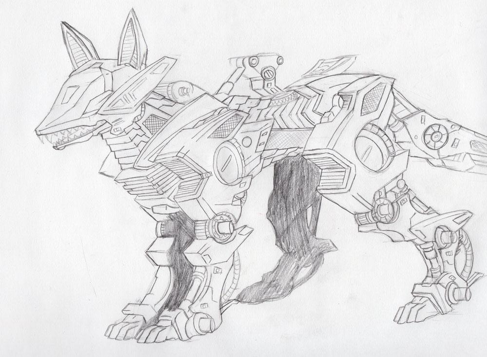 Shadow Fox sketch by MidnightLiger0