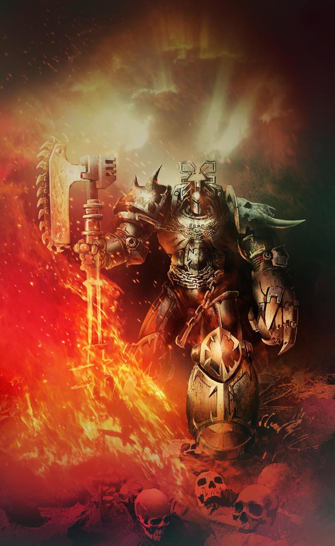 Blood For The Blood God by skullsgunsandfire