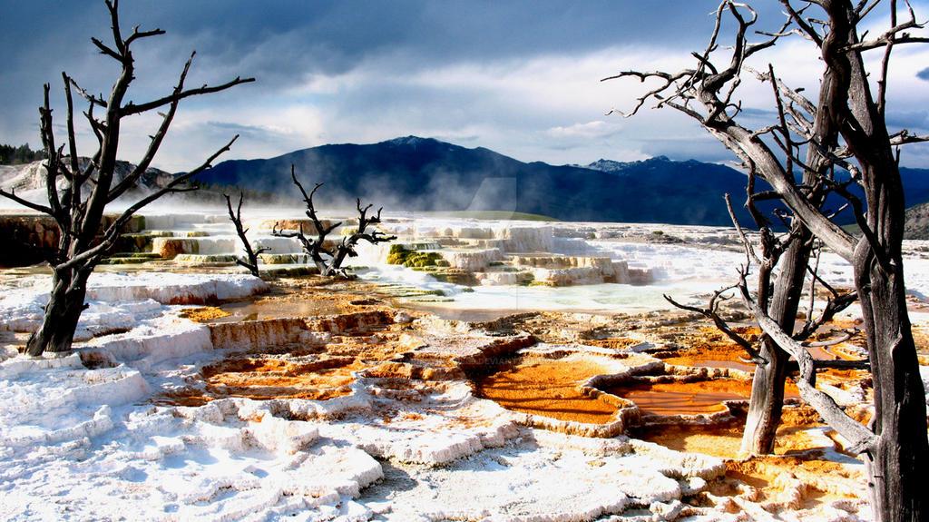 Mammoth Hot Springs 2 by AlatarielTinuviel9