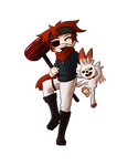 Lavi with Scorbunny! by FlockCall