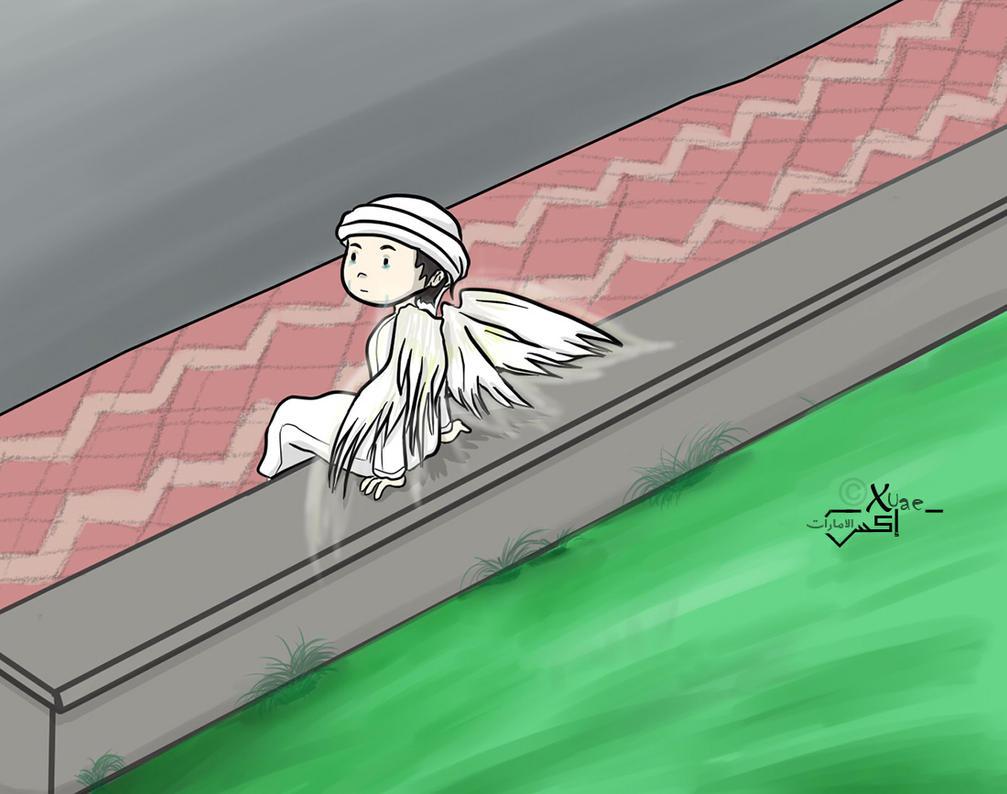 Sad Winged by xuae