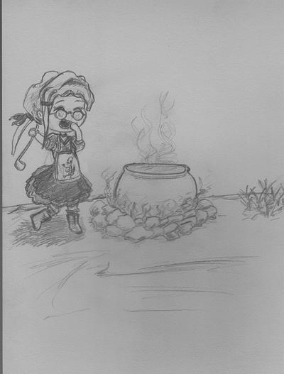 maho shoujo cooking by xuae