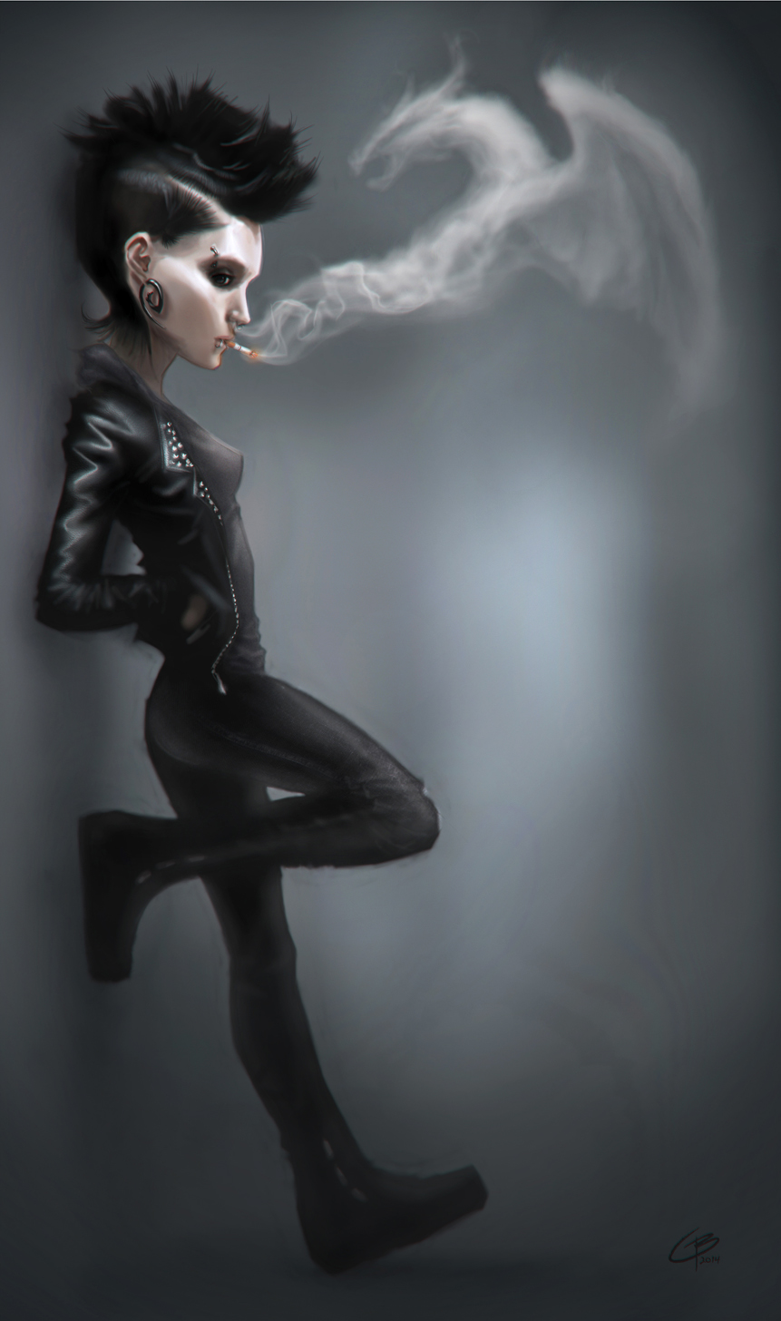 Lisbeth salander the girl with the dragon tattoo by for The girl with the dragon tattoo story