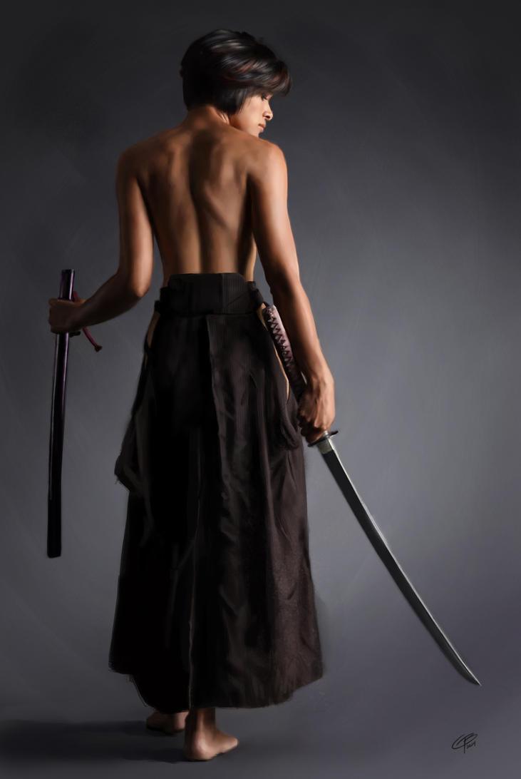Samurai Girl - Not a photo! by tiguybou