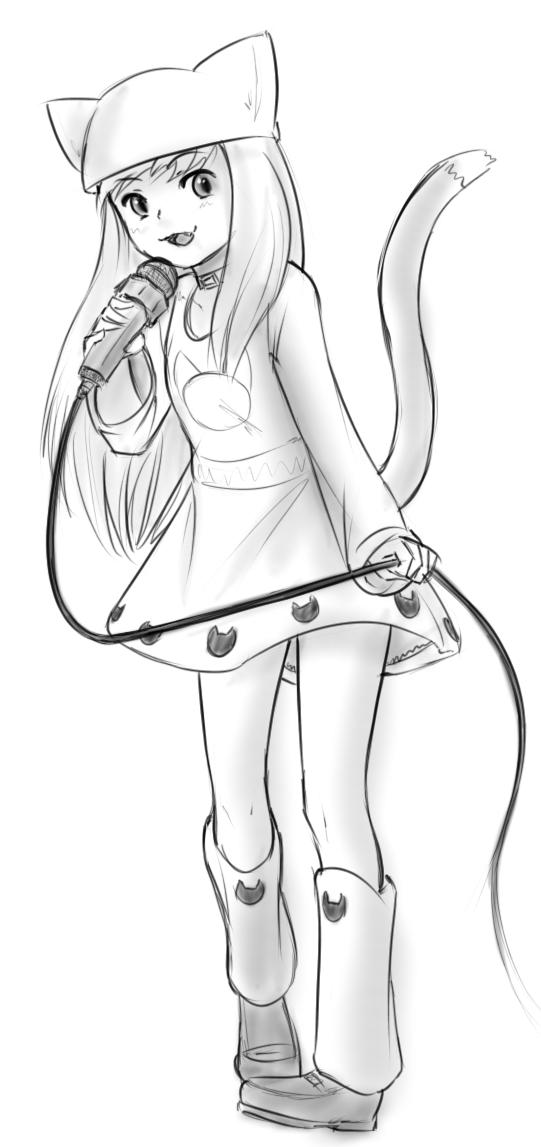 Kitty Girl Sketch (2) by xWARZARDx