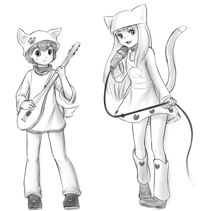 Puppy Boy and Kitty Girl duet by xWARZARDx