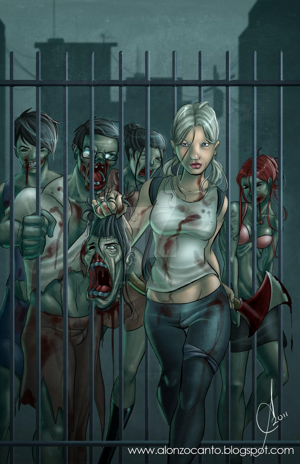 Envyq00 63 6 Zombie Slayer By Alonzocanto