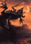 Negga Fire Wyrm - Creature concept
