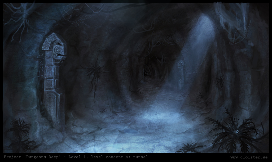 D D Dungeon Interior Painting