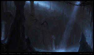 Dungeon level 1 - level concept B: Cavern by Cloister