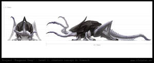 Dungeon level 1 - creature concept A: Lomnach by Cloister