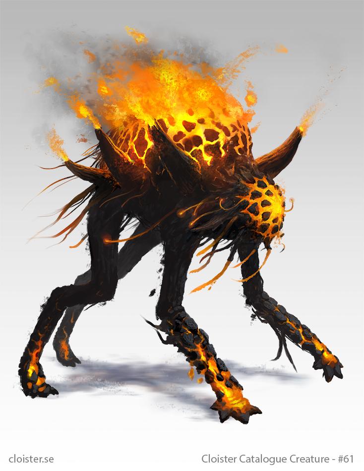 Othnorian Firewalker - creature concept by Cloister