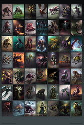 RPG Creatures - The Poster by Cloister