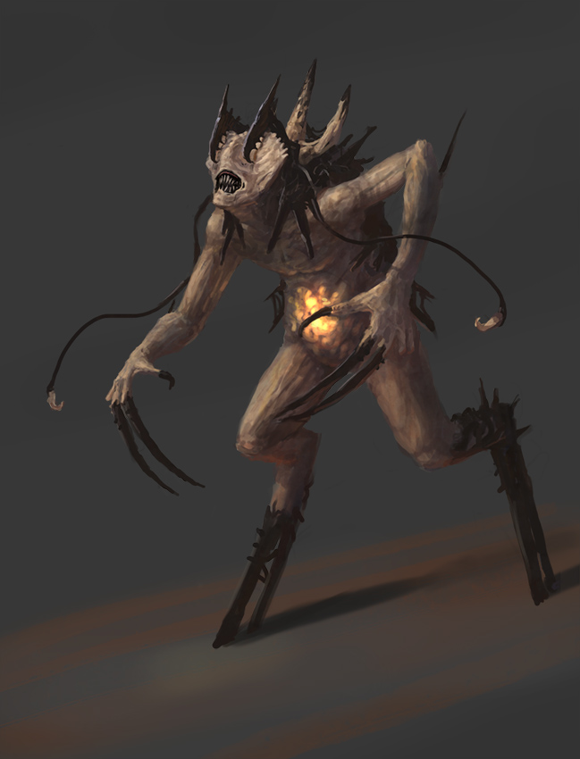 Horror Creature Concept 1 by Cloister