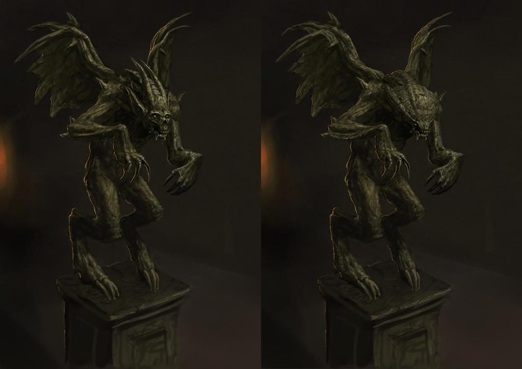 Horror Creature Concept 4 - Gargoyle by Cloister